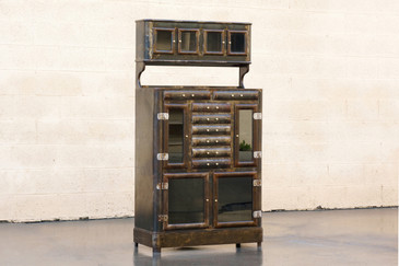 1920s Apothecary Cabinet with Distressed Patina