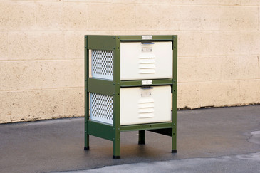 1 x 2 Locker Basket Unit, Vintage Inspired and Newly Fabricated to Order
