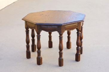 SOLD - Antique Spanish Revival Side Table by Marshall Laird, Los Angeles, 1920s, Rare