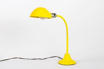 1960s Gooseneck Desk Lamp Refinished in Mellow Yellow, Free Shipping