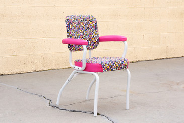 1950 Cosco Armchair, Refinished in Retro Fabric