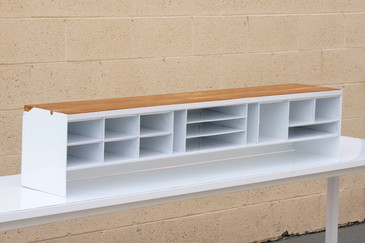SOLD - Large 1960s Repurposed Office Organizer, Refinished in White