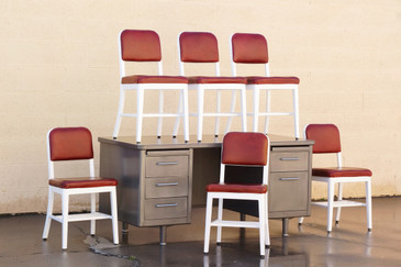 "Set of 6 ""Goodform"" Side Chairs by General Fireproofing Co., Refinished"