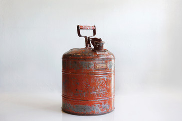 SOLD - Vintage Just Rtie Gas Can, c. 1930s