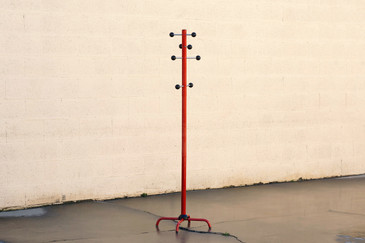 SOLD - Danish Modern Standing Coat Rack with Modular Arms
