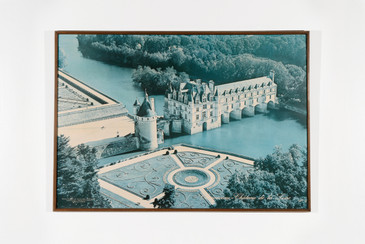 Extra Large Vintage Framed Poster, Châteaux of the Loire Valley, Free U.S. Shipping