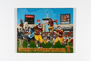 SOLD - USC Trojans Football Painting by Lorin C. Fleming