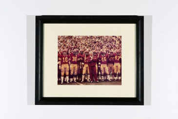 1970s USC Trojans Football Team Photo with Coach John McKay, Newly Framed