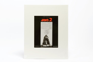 Jaws 2, 1978/ Original Vintage Movie Advertisement Art Transparency