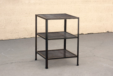 Three-Tier Expanded Metal Shelf Unit, Custom Made, Free U.S. Shipping