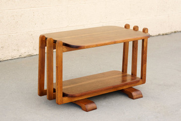 SOLD - Streamline Modern Oak Side Table in the Style of Gilbert Rohde