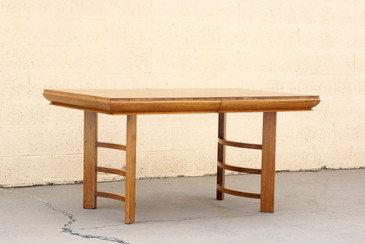 Half Moon Art Deco Dining Table in Oak