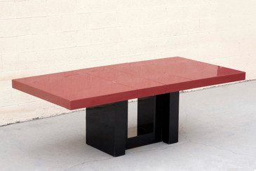 SOLD - Expandable Lacquered Dining Table by Paul Laszlo