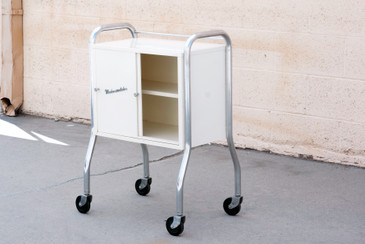 SOLD  - 1950s Medcosonlator Rolling Medical Cabinet Cart