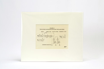 1960s Scientific Diagram - Fig 3: Claus Sulfur Plant For Lean Feed, Mounted in Window Mat, Free U.S. Shipping