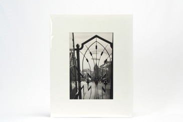Vintage Photograph of New York Cityscape, Mounted in Window Mat, Free U.S. Shipping