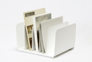 SOLD - 1960s Desktop File Holder Refinished in Gloss White, Free U.S. Shipping