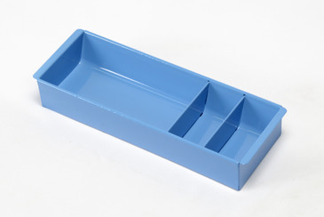 Steel Tanker Drawer Insert/ Organizer, Refinished in Bright Blue, Free Shipping