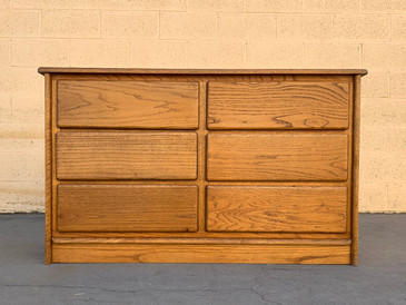 SOLD - Vintage Modern Solid Oak Dresser, Reconditioned