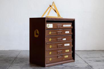 SOLD - Industrial Multi-Bin Storage Cabinet by Lawson
