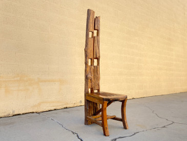 SOLD - Vintage Balinese Teak Folk Art Chair, Handmade