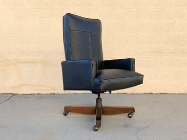 1970s Modern High Back Executive Chair, Refinished