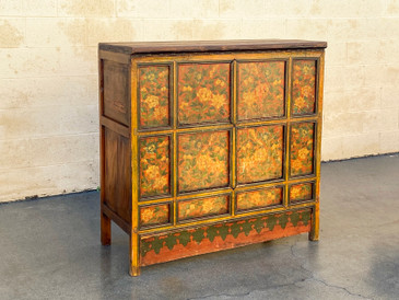 SOLD - Antique Hand Painted Hutch Cabinet from India