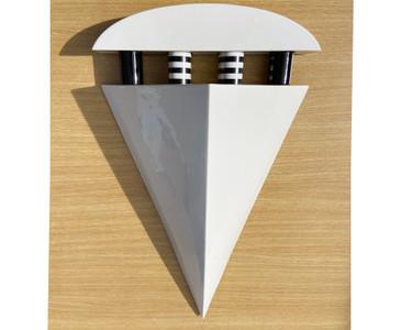 Ceramic Geometric Sconce/ Wall Light, Signed, Free U.S. Shipping