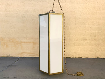 Vintage Mod Hanging Pendant Light, Free U.S. Shipping
