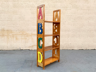 SOLD - Vintage ABC Kid's Bookshelf, Free U.S. Shipping