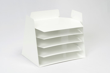 SOLD - Uncommon Retro Office File Organizer, Refinished in Gloss White, Free U.S. Shipping