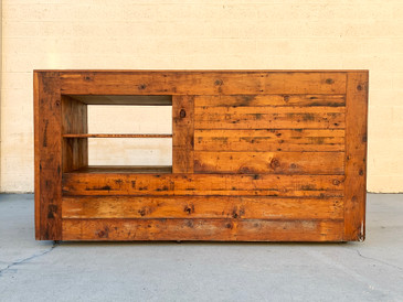 SOLD - Vintage Reclaimed Wood Sales Retail Counter