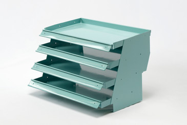 SOLD - Space Age Desktop File Holder, Refinished in Sea Foam Blue, Free U.S. Shipping