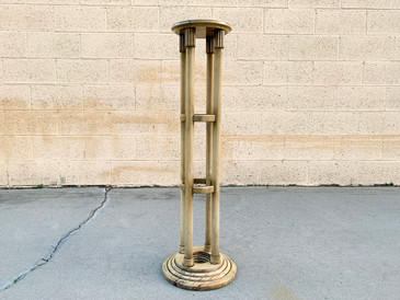Vintage Neoclassical Plant Stand, Free U.S. Shipping