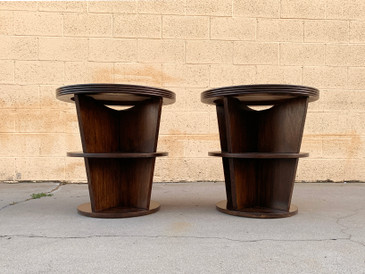 Pair of 1980s Art Deco Style Side Tables