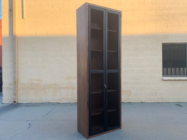 SOLD - Custom Made Locking Cabinet with Expanded Metal Doors, Heavy Duty