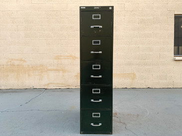 SOLD - 1940s File Cabinet by Steel Furniture Co., 5 Drawer Tall