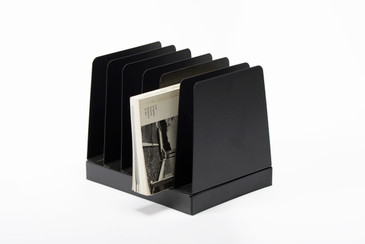 SOLD - Retro Office Memo/ Mail Organizer Refinished in Matte Black, Free U.S. Shipping