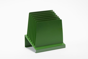 Space Age Desktop File Holder, Refinished in Kelly Green, Free U.S. Shipping