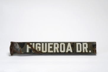 SOLD - Antique Los Angeles Street Sign, Figueroa Dr., Free U.S. Shipping