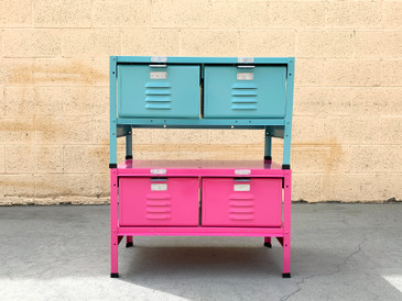 "Custom 2 X 1 Locker Basket ""Side Table"" Unit, Sold Separately,"