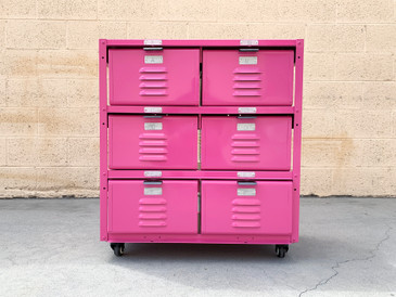 Custom 2 X 3 Locker Basket Unit on Casters