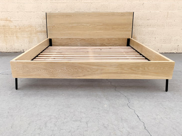 SOLD - The Hayes Bed by Croft House, Bleached Oak and Steel, King Size