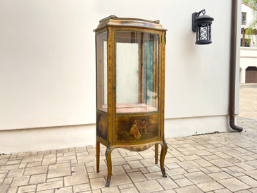 Louis XV Style Verni Martin Cabinet in the Manner of Linke