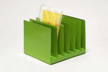 Retro File Office Organizer, Refinished in Lime Green, Free U.S .Shipping
