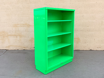 Mid Century Tanker Bookcase Refinished in Florence Green