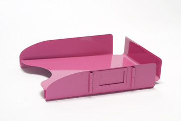 "SOLD - AllSteel ""Floating"" Paper Tray, Refinished in Pink, Free U.S. Shipping"