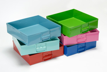 SOLD - 1950s Mail Sorting Trays, Refinished, Choose Your Color, Free U.S. Shipping