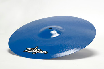 Vintage Music Cymbal, Refinished in Royal Blue, Free U.S. Shipping