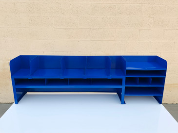 Rare Legal Size Mid Century Office Organizer, Refinished in Cobalt Blue, Free U.S .Shipping
